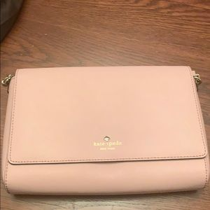 Kate spade light pink cross body purse
